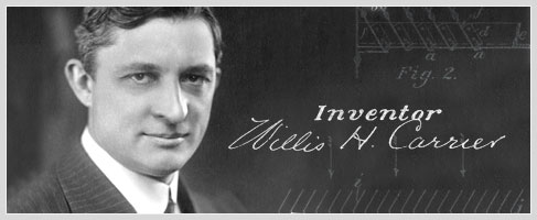 Willis Carrier inventor of the air conditioner